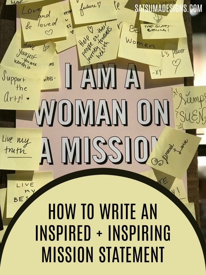 Ask these 5 questions to write an inspiring mission statement. Get my easy to follow formula to create a mission statement that guides you in the path that you were meant to follow! #missionstatement #bossbabe #momboss #clarity #businesstips #businessplan #businessplanning
