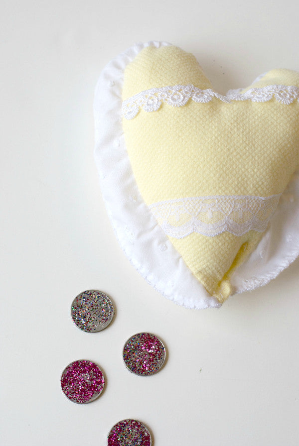 diy tooth fairy glitter coins