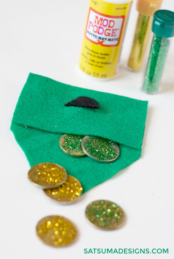 diy leprechaun gold