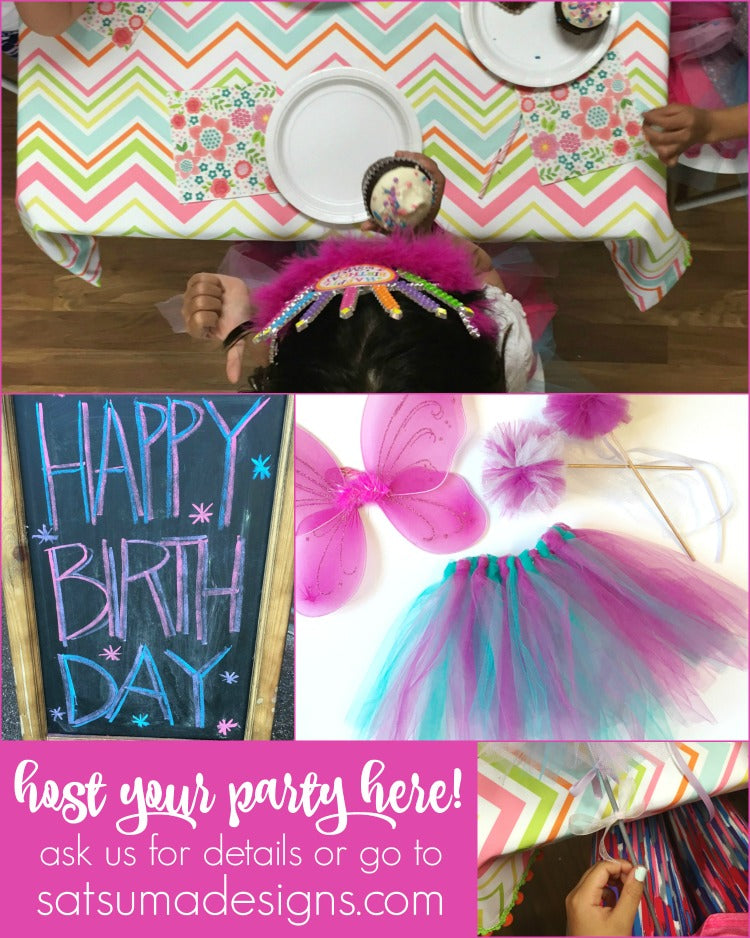 host your birthday party at Satsuma