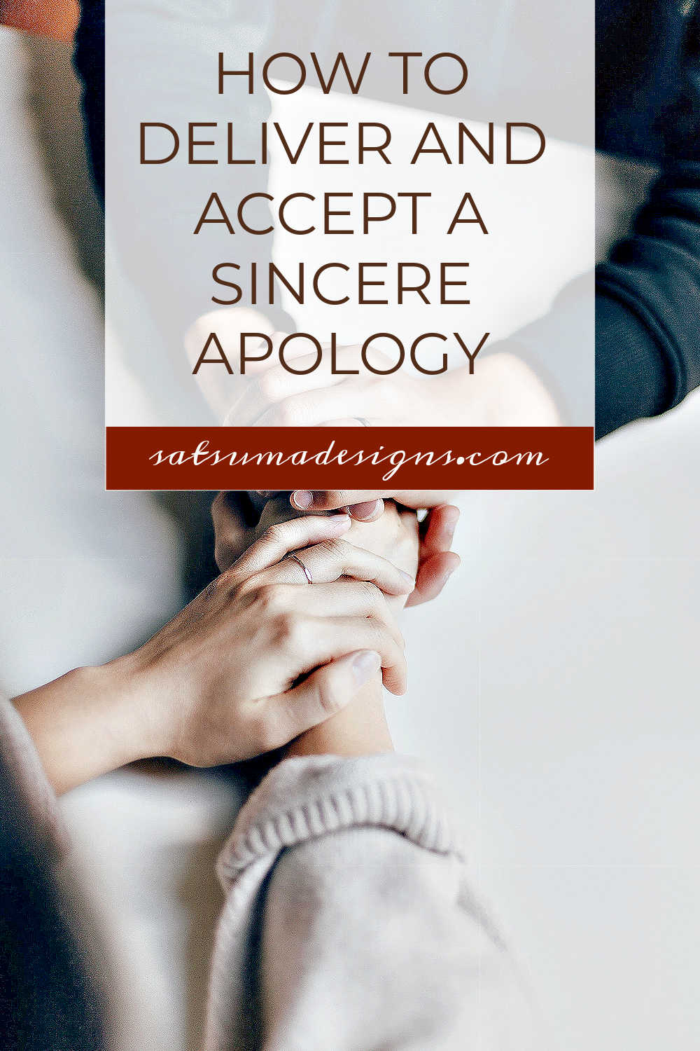 How to deliver and accept a sincere apology. Sadly, relationship struggles are a part of life, but we don't have to hold onto the pain when we can accept a sincere and thoughtful apology. Discover how to make an apology that will begin to heal relationships. #relationships #etiquette #businessskills #lifeskills #partnership
