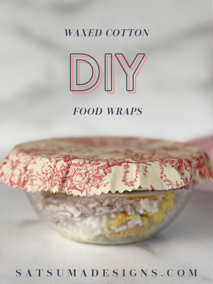 How to easily make reusable waxed cotton food wraps explained here! Follow my step by step video tutorial to make these upcycled food wraps and forget single use plastic bags for good! #sustainable #upcycle #foodstorage #schoollunch #organize #bentolunch