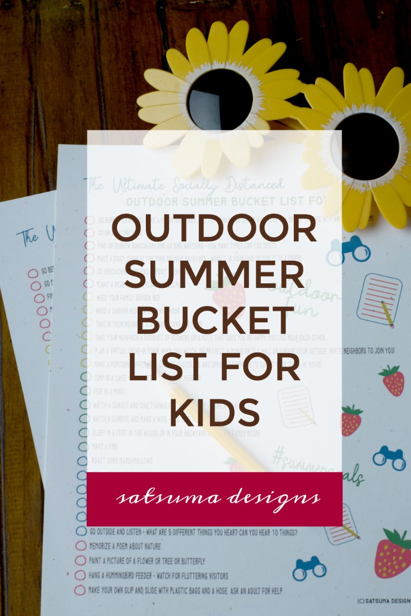 The ultimate socially distanced outdoor summer bucket list for kids. Here are 30 ideas to get your family outside and having fun this summer in the great and safe outdoors! #sociallydistanced #socialdistance #covid #summer #bucketlist #familysummer