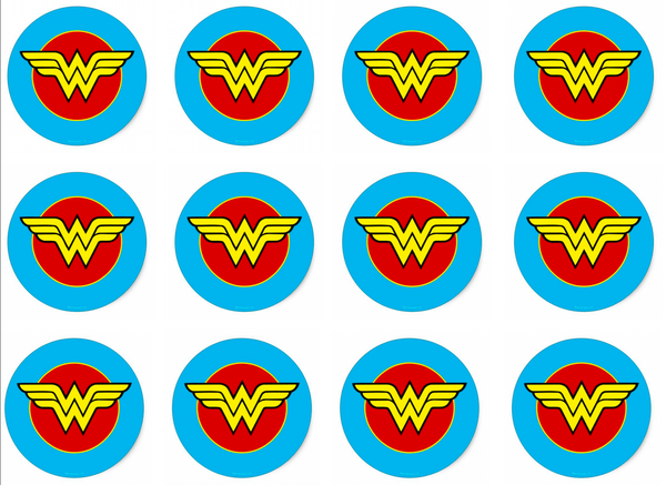 wonder woman cupcake toppers printable