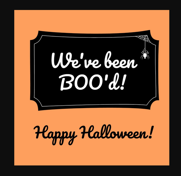 we've been boo'ed window sign printable | you've been boo'ed printable treat bag | SatsumaDesigns.com #printable #halloween