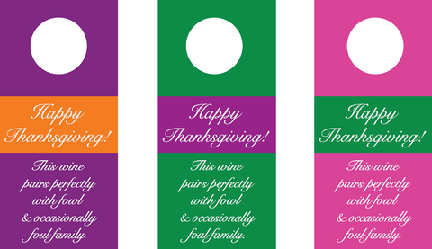 thanksgiving wine bottle gift tags