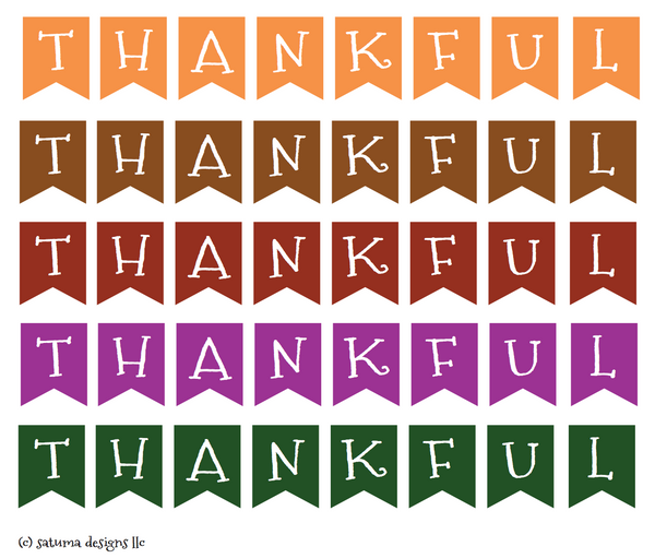 thankful cake topper banner