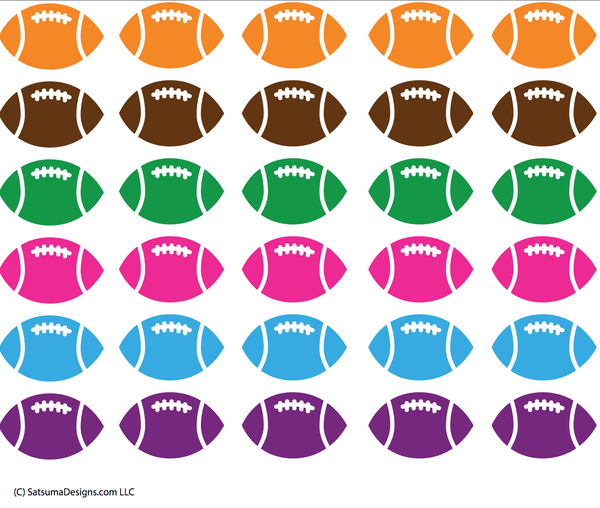 football topper printables