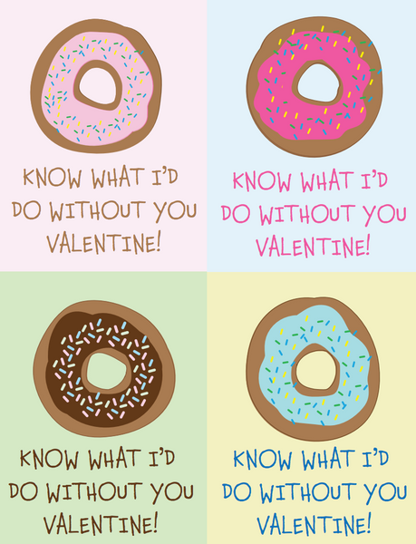 donut know what i'd do without you valentine