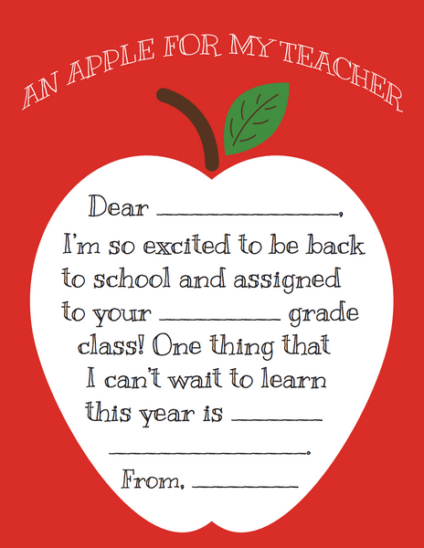Click through to print my apple for my teacher note printable | Back to school printables | Teacher gifts | Teacher appreciation notes | SatsumaDesigns.com #teacherappreciation #backtoschool