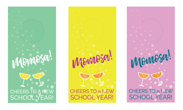 Back to school Momosa gift set with printable | Cheeky gift idea for Mom for back to school during #covid19 and #distancelearning | #homeschool #bts #backtoschool #momlife #parenting
