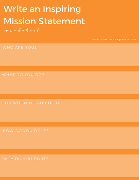 How to write an inspiring mission statement worksheet