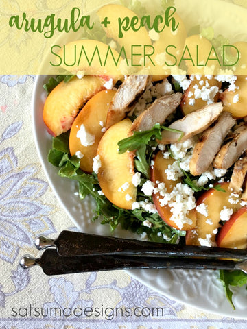 arugula and peach summer salad