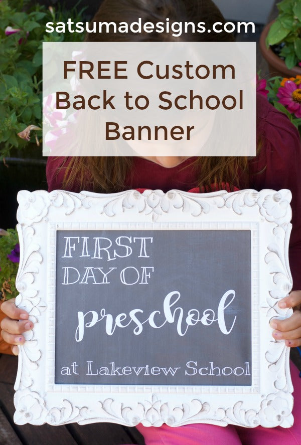 free custom back to school banner