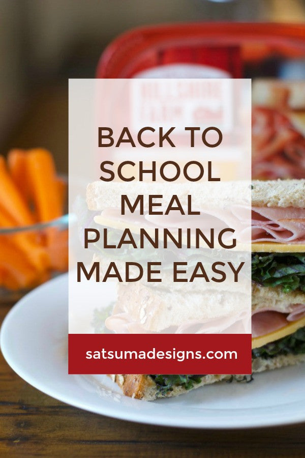 USA Road Trip Meal Plan | Back to School Meal Planning Made Easy