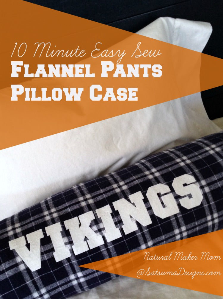 Team Spirit Makeover: Flannel Pants into a Cozy Flannel Pillow in 10 Minutes