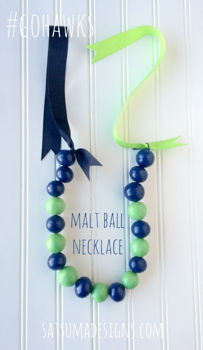 12th man malt ball necklace