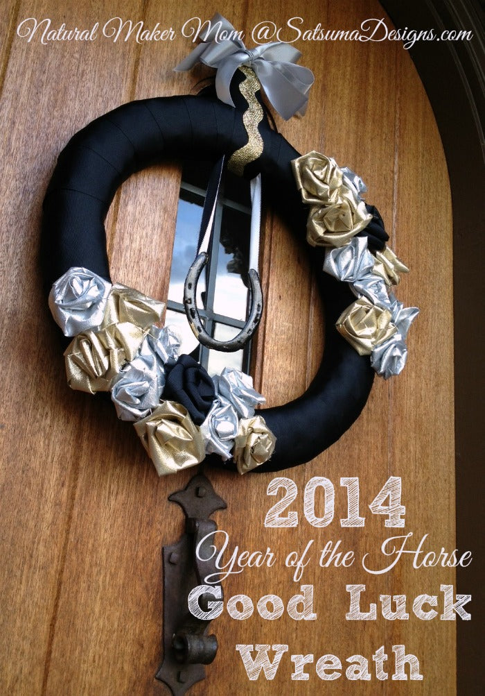 new year wreath diy craft