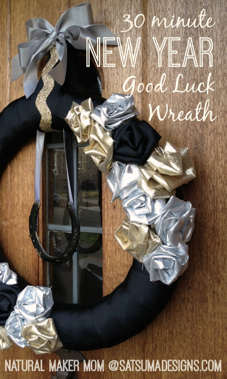 30 minute new year good luck wreath