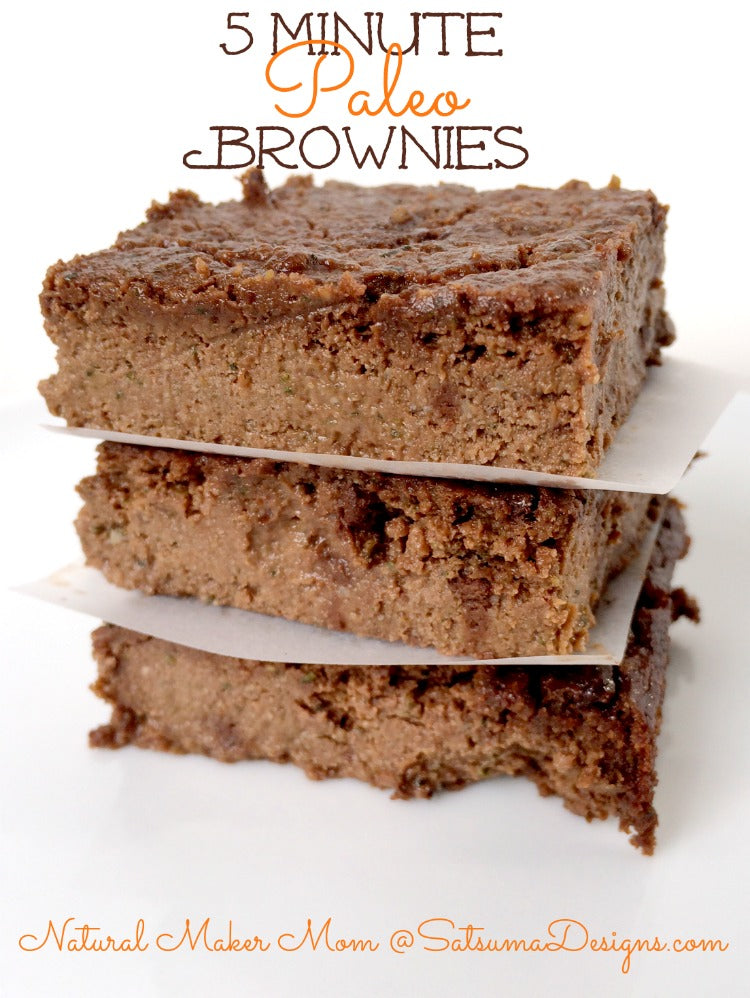 5 minute paleo brownies