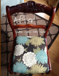 Cover dining chairs in under 90 minutes from Natural Maker Mom