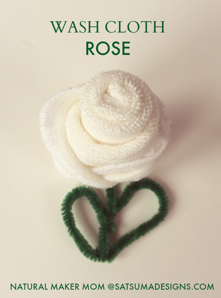 how to fold a wash cloth rose