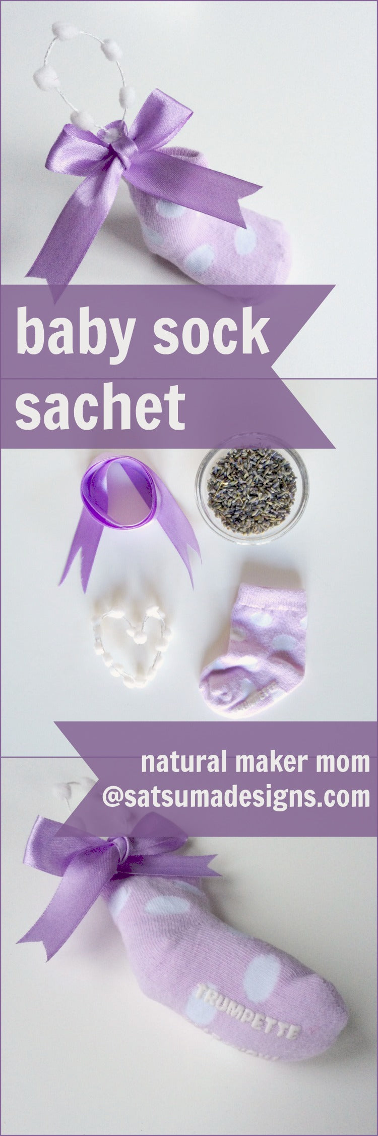 baby sock sachet tutorial
