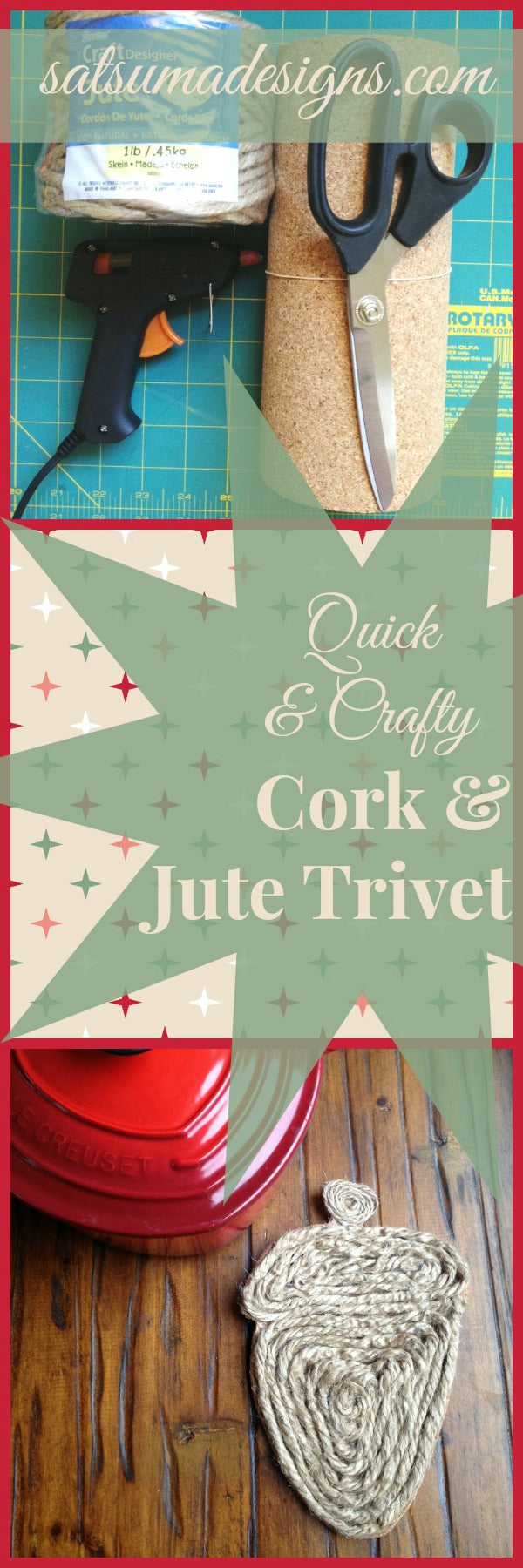 quick and crafty cork and jute trivets for holiday