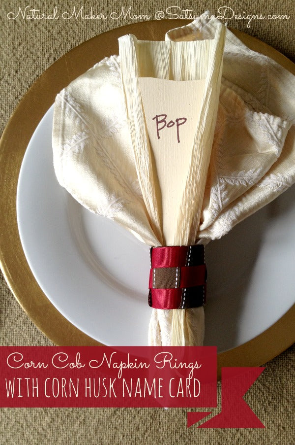 quick and easy corn cob napkin rings