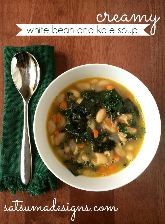 creamy white bean and kale soup