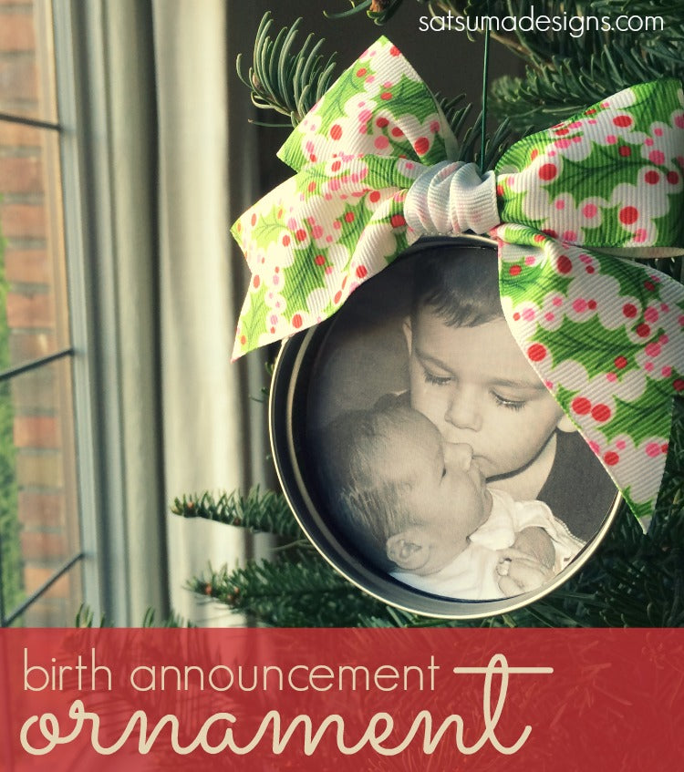 birth announcement oranament