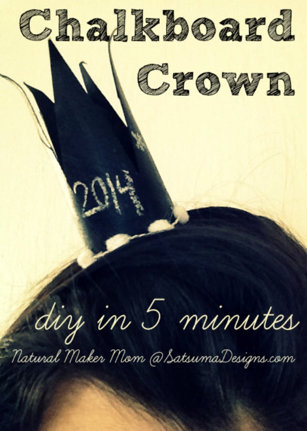 new years eve diy chalkboard crown