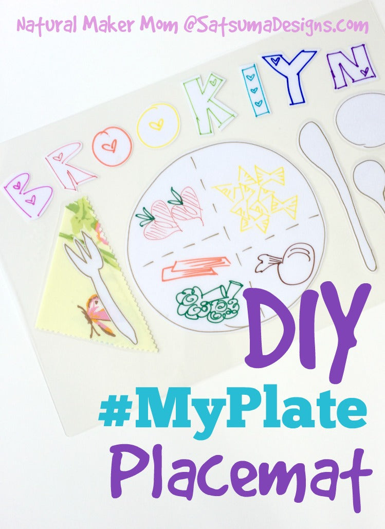 diy #myplate placemat for kids
