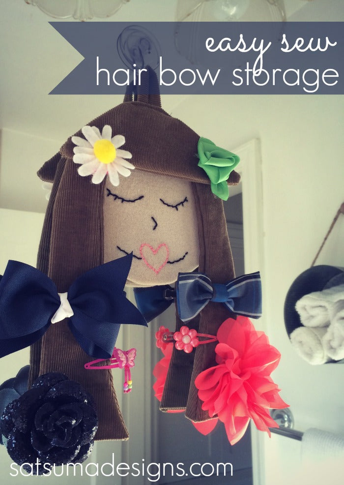 diy hair bow storage craft