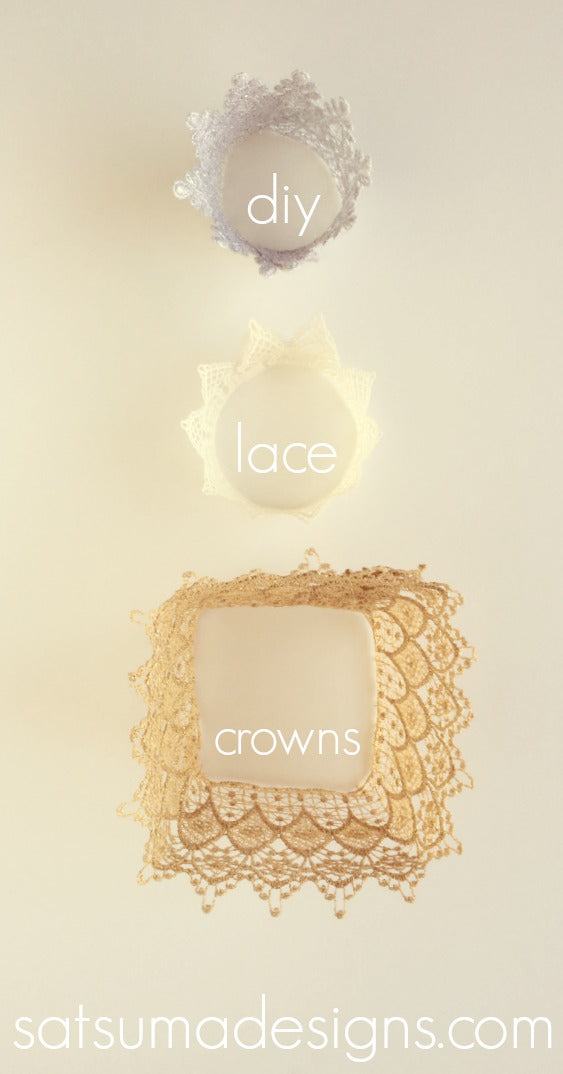 diy lace crown tutorial