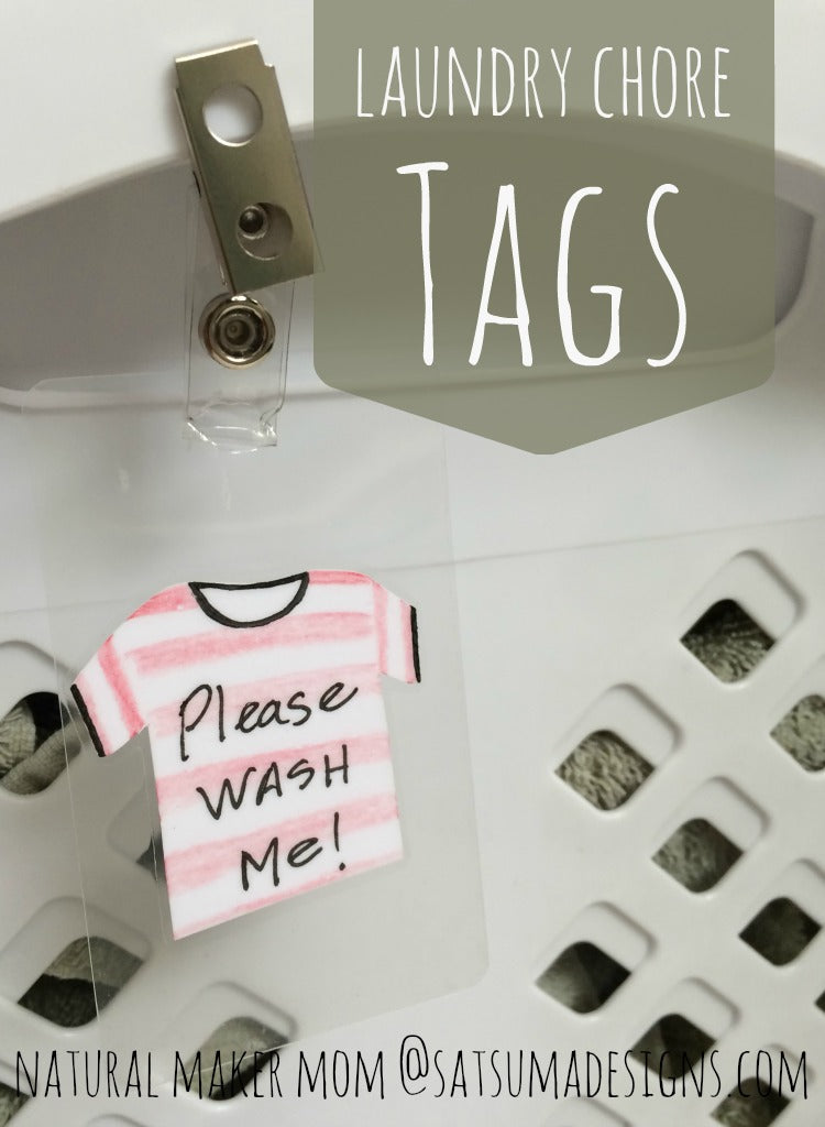 diy laundry basket tags for wash and fold