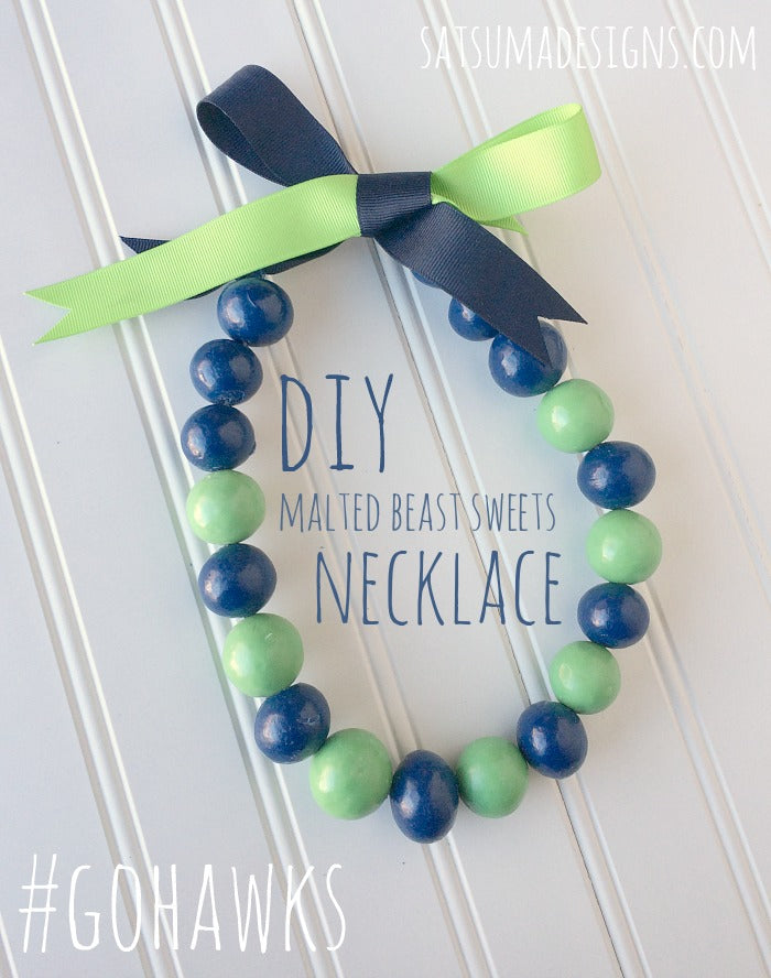 diy malted beast sweets necklace