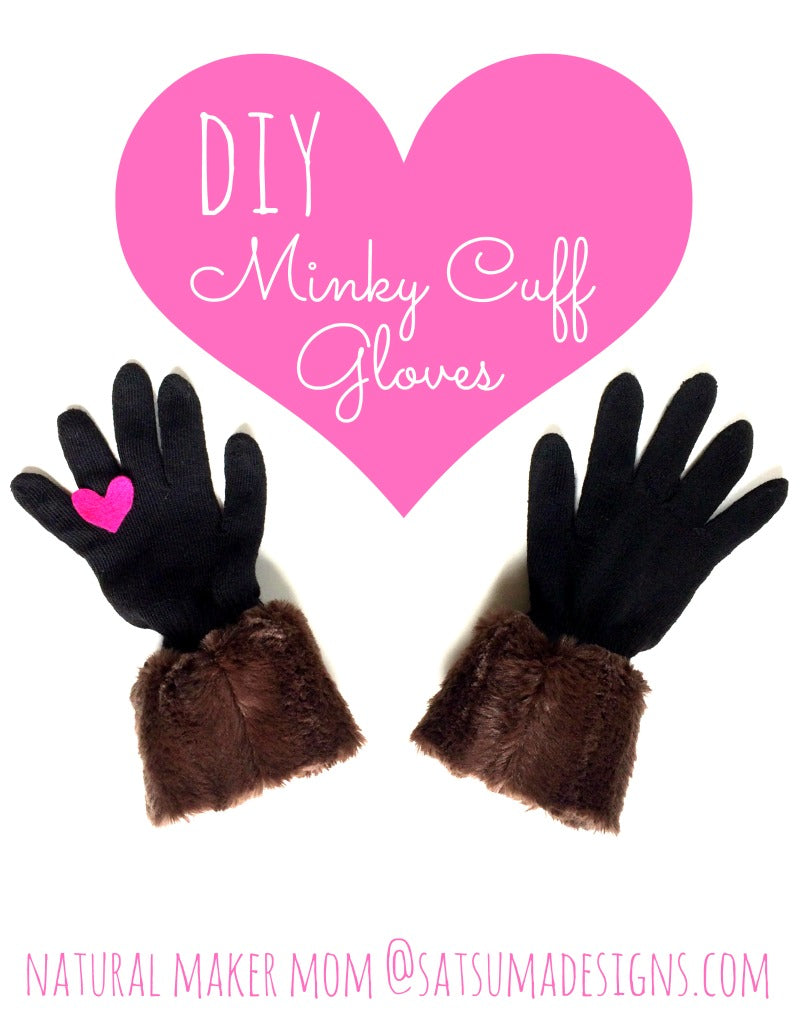 diy minky cuff gloves