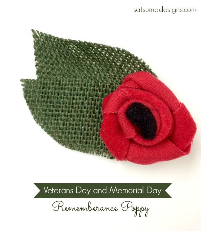 diy rememberance poppy veterans day
