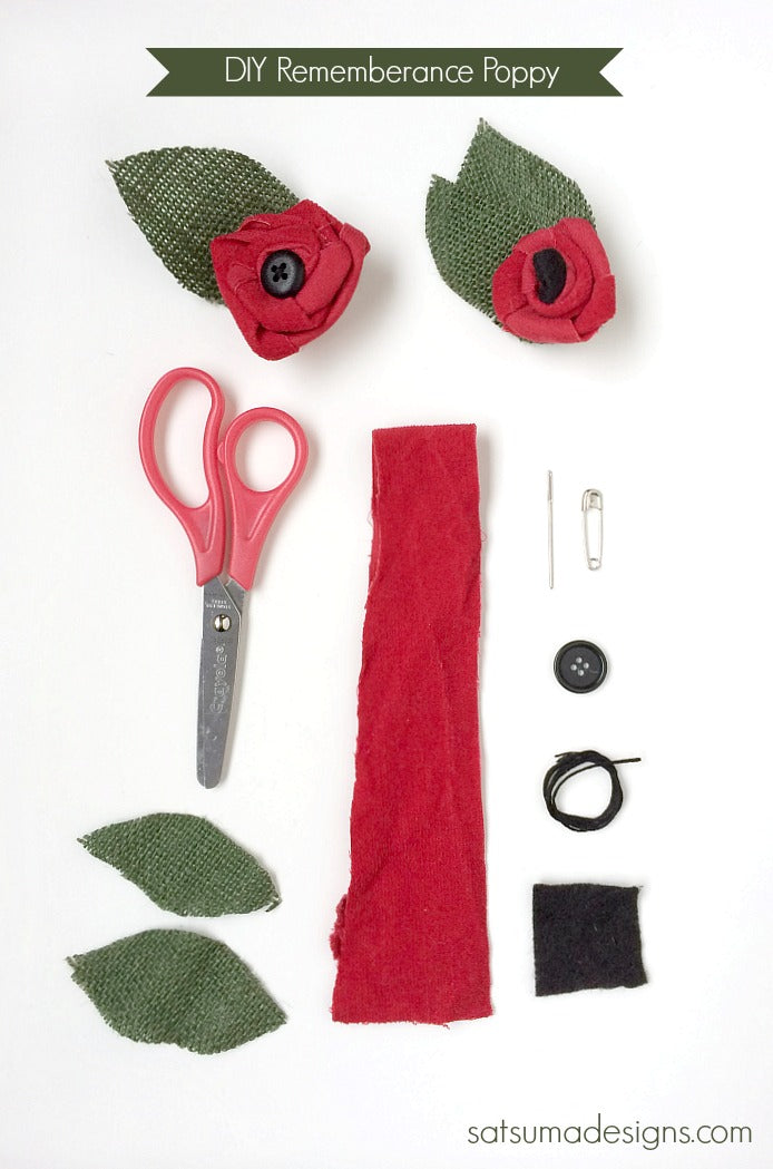 diy rememberance poppy