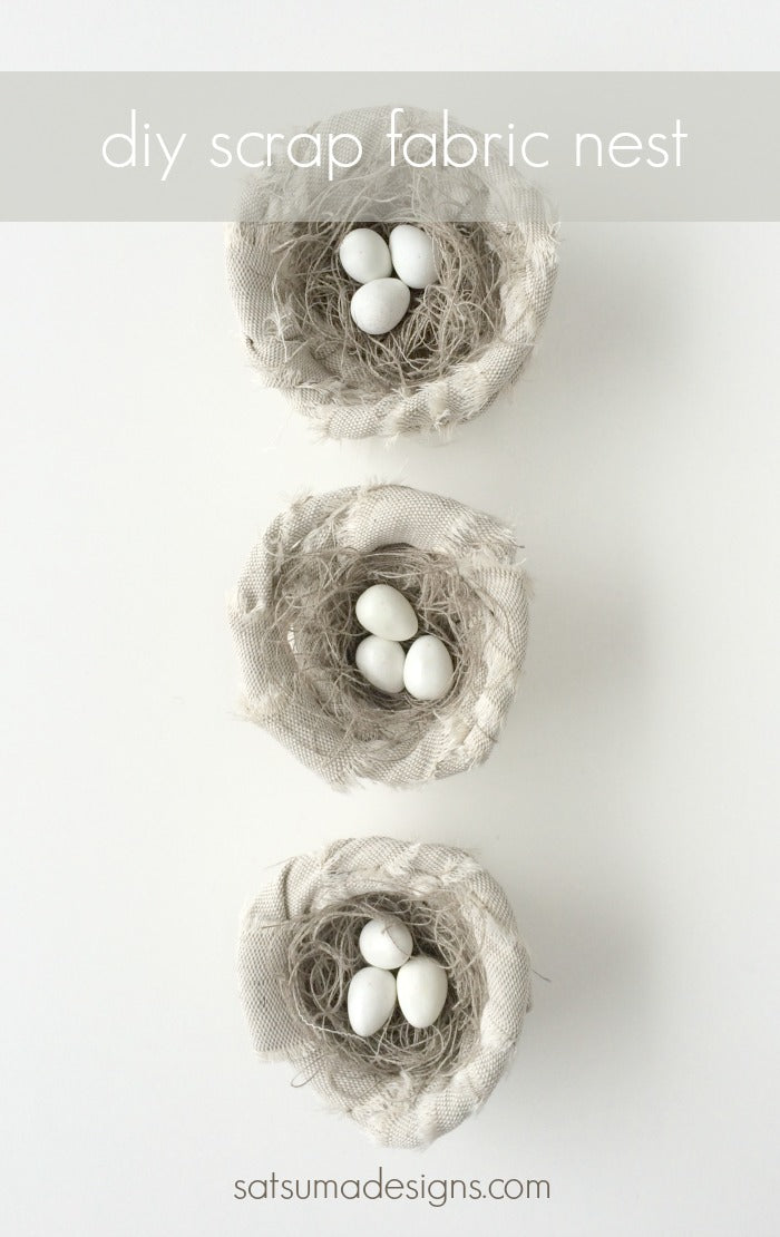 diy scrap fabric nest