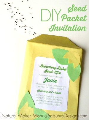 diy seed packet invitation