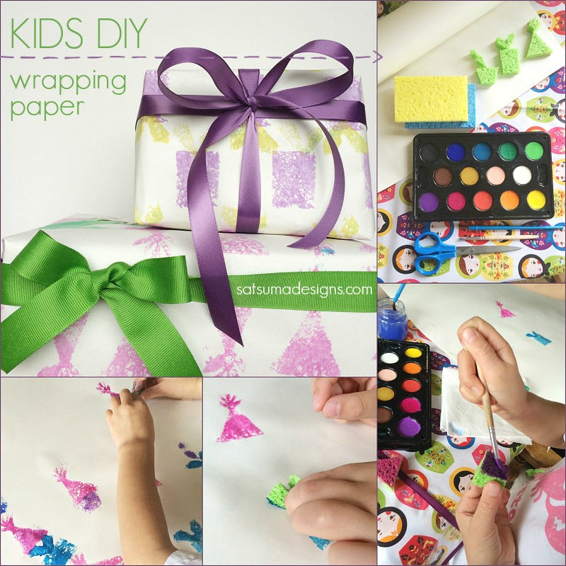 Diy Kids Birthday Wrapping Paper Satsuma Designs