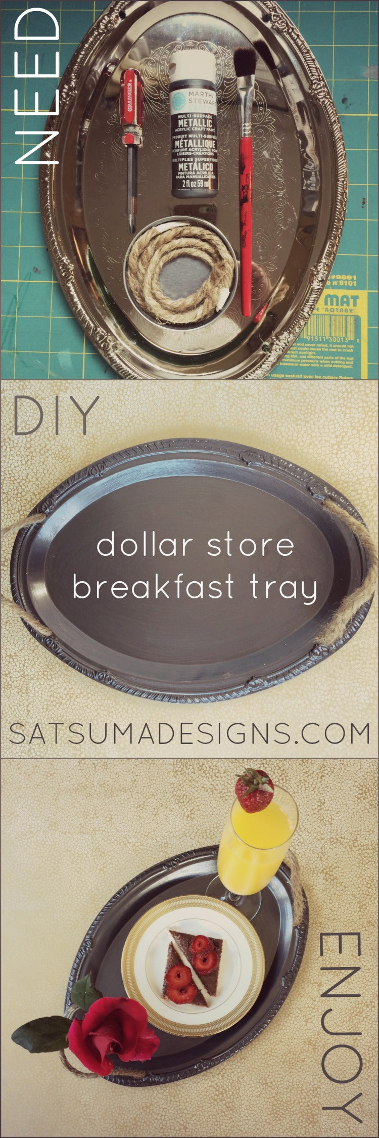 diy dollar store breakfast tray tutorial