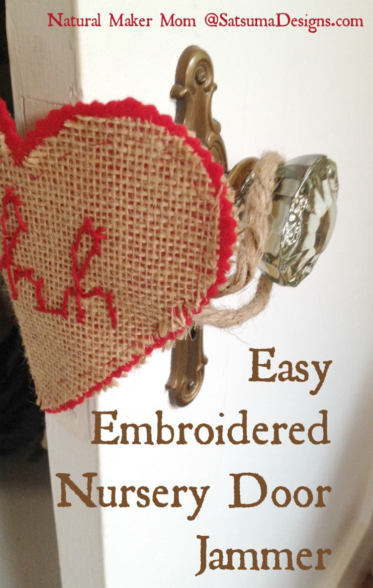 easy embroidered nursery door jammer duo