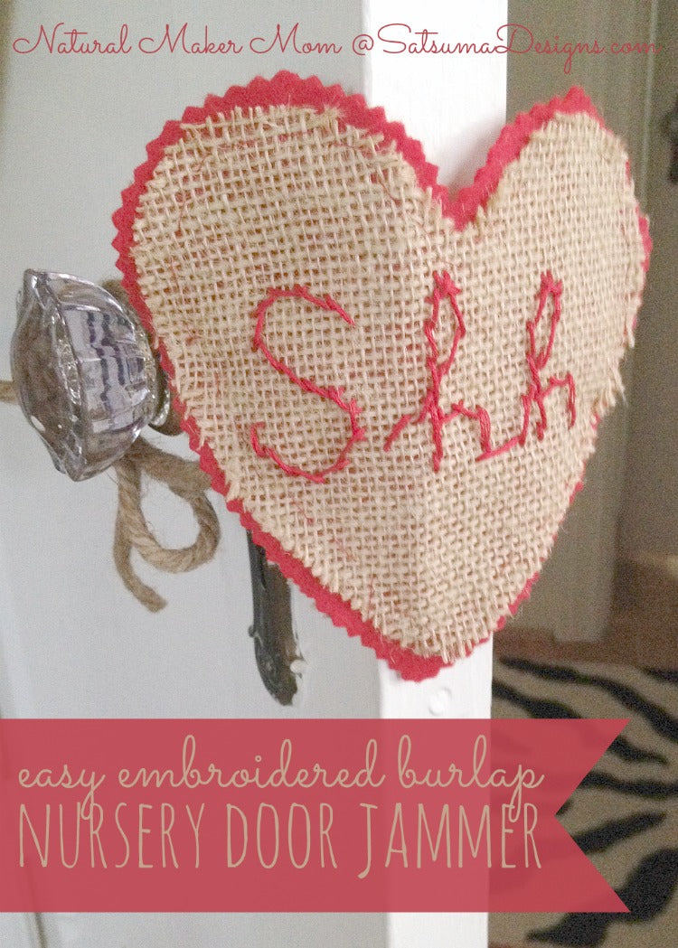 easy embroidered nursery door jammer