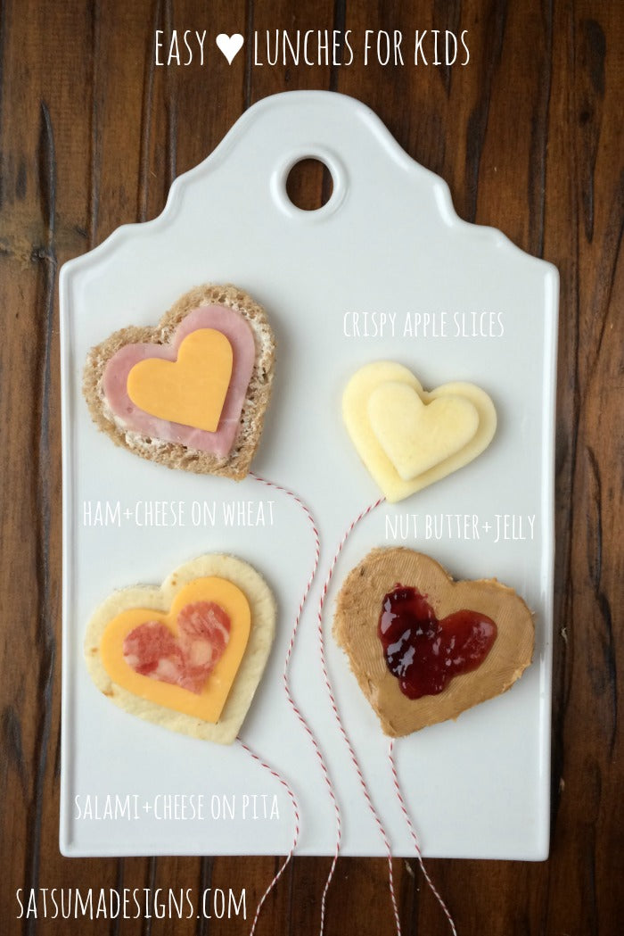 easy heart lunches for kids