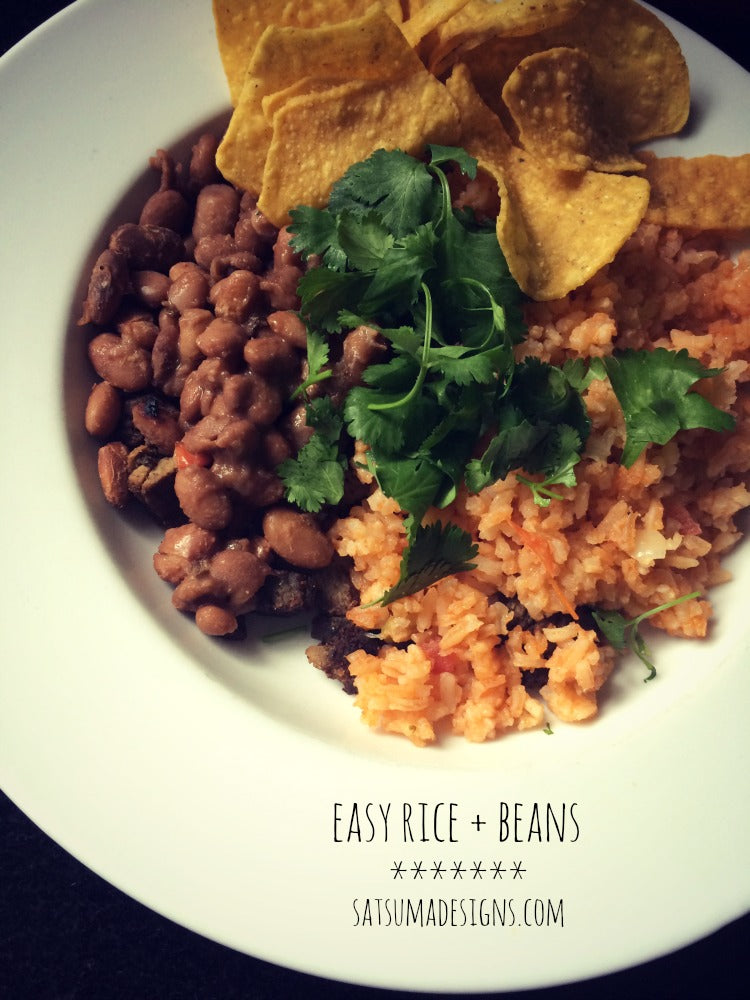 easy rice and beans gluten free and vegan