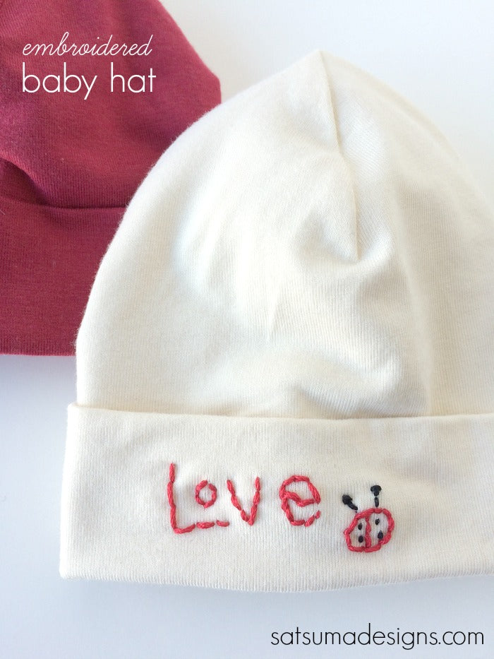 embroidered baby hat