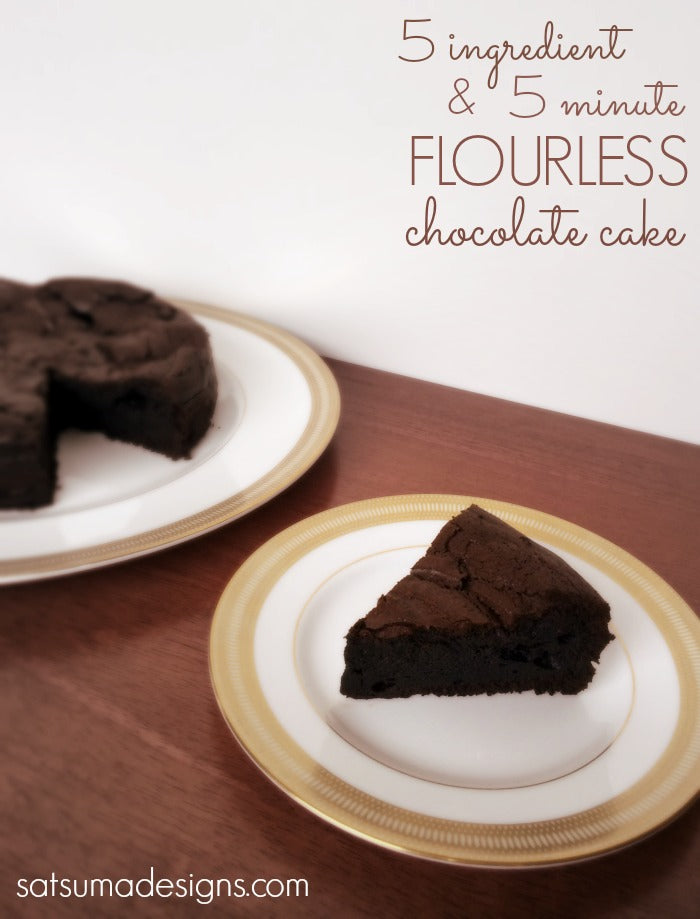 five minute flourless chocolate cake